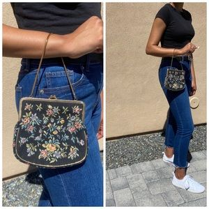 Vintage Steiner Embroidered Bag Pochette